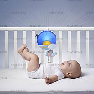 Музыкальная панель на кроватку Sunset, голубая, 06992.20, купить