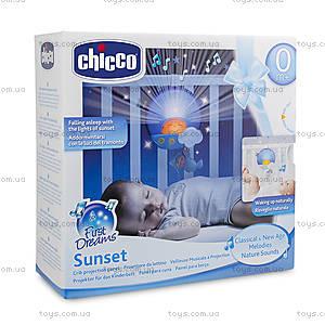 Музыкальная панель на кроватку Sunset, голубая, 06992.20, фото