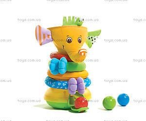 Музыкальная пирамидка «Радужный слоник», 1502106830