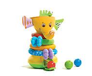 Музыкальная пирамидка «Радужный слоник», 1502106830, купить