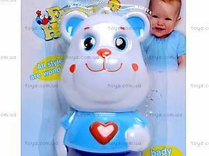 Музыкальная погремушка «Медвежонок», 52002, игрушки