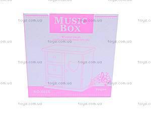 Музыкальная шкатулка с узором, 6028/1-4, игрушки