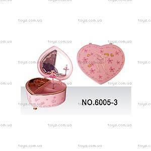 Музыкальная шкатулка «Сердце», 6005-3