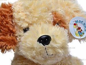 Музыкальная собака, сидячая, Q-271-036WT, игрушки
