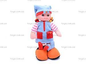 Музыкальная тактильная кукла «Пуговка», 080205