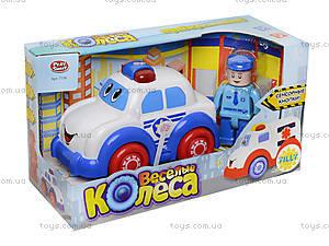 Музыкальная игрушечная машина «Веселые колеса», 7106ABC, купить