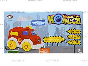 Музыкальная игрушечная машина «Веселые колеса», 7106ABC, фото