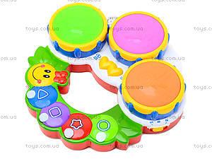 Музыкальная игрушка для детей «Барабан», 2216A-33, купить