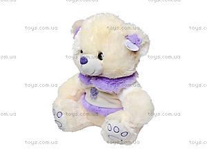 Музыкальная игрушка для детей «Мишка в платье», 343335, купить