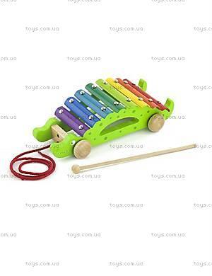 Музыкальная игрушка-каталка «Крокодил», 50342