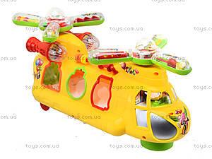 Музыкальная игрушка «Машина-геликоптер» , 3188B, фото