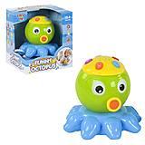 """Музыкальная игрушка """"Осьминог-проектор"""" салатовый, 65151, детские игрушки"""