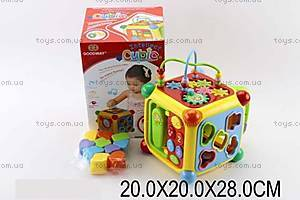 Музыкальная игрушка-сортер «Куб», 3838A