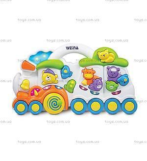 Музыкальная игрушка Weina «Паровозик с животными», 2106