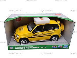 Музыкальное такси Chevrolet Niva, 9121С, игрушки