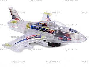 Музыкальный детский игрушечный самолет, SY701