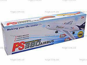 Музыкальный детский самолет, PS380-4, игрушки