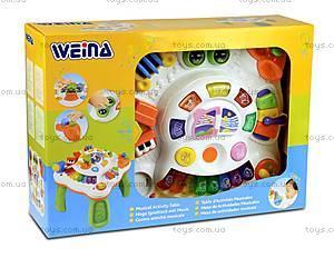 Музыкальный игровой столик Weina, 2092