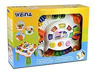 Музыкальный игровой столик Weina, 2092, детские игрушки
