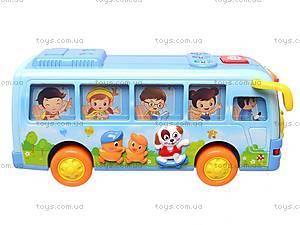 Музыкальный игрушечный автобус, 908, фото