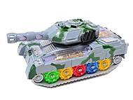 Музыкальный игрушечный танк, 2265-1, фото