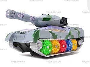 Музыкальный игрушечный танк, 2265-1, детские игрушки