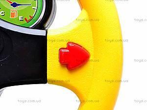 Музыкальный интеракитвный детский руль, 0582-1, игрушки