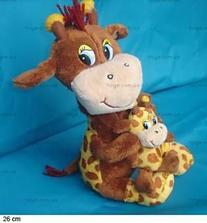 Музыкальный жираф, с малышом, 1008-4