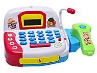Музыкальный кассовый аппарат, с корзинкой, LF1018A, игрушка