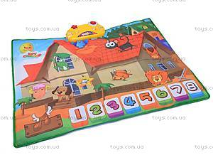 Музыкальный коврик с домиком и животными, 713