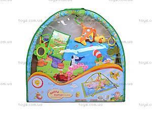 Музыкальный коврик с игрушками, PM90108, детские игрушки
