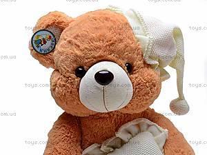 Музыкальный медведь с подушкой, S38-0593/40, фото