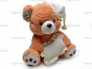Музыкальный медведь с подушкой, S38-0593/40