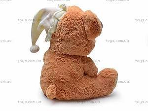Музыкальный медведь с подушкой, S38-0593/40, детские игрушки