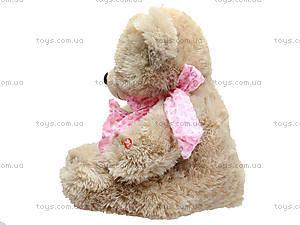 Музыкальный медведь с сердечком, 639670 серый, фото