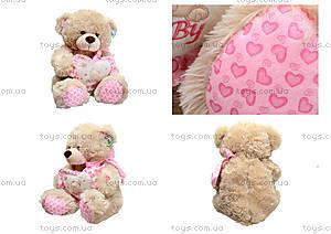Музыкальный медведь с сердечком, 639670 серый
