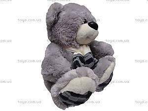 Музыкальный медвежонок, в шарфе, S-WQ11105