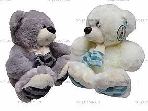 Музыкальный медвежонок, в шарфе, S-WQ11105, фото