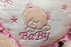 Музыкальный мишка с сердечком для детей, 639650, купить