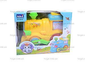 Музыкальный паровоз для малышей, QS107, цена