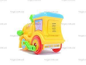 Музыкальный паровоз для малышей, QS107, игрушки