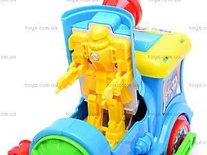 Музыкальный паровоз Happy, QS299, детские игрушки