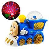 Музыкальный паровоз «Паровозик Томас» (синий), YJ388-4, детские игрушки