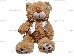Музыкальный плюшевый медведь, с бантом, S-JY-4051/30