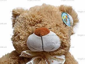 Музыкальный плюшевый медведь, с бантом, S-JY-4051/30, цена