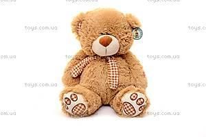 Музыкальный плюшевый медведь, с шарфом, S-JY-3660/50