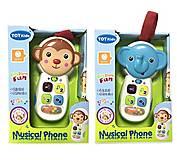 Музыкальный развивающий телефон 2 вида, 2090, фото