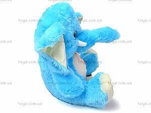 Музыкальный слон, плюшевый, S-S38-3350/60, игрушки