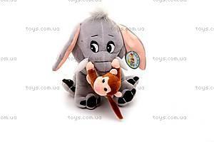 Музыкальный слоник, с обезьянкой, MT2-4254, купить