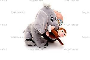 Музыкальный слоник, с обезьянкой, MT2-4254